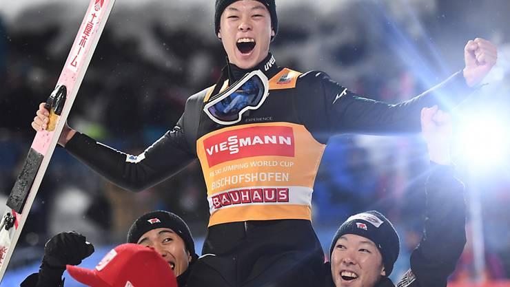 Der Überflieger des letzten Jahres ist auch diesmal der Favorit: Ryoyu Kobayashi