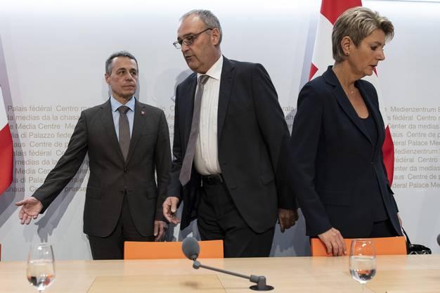 ... und Karin Keller-Sutter über das Rahmenabkommen mit der EU und die Begrenzungsinitiative.