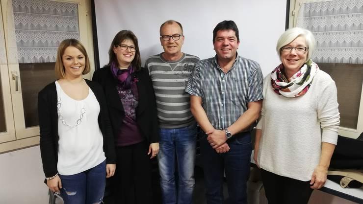 v.l. Vanessa Furrer, Sabine Zaugg, Roland Mülchi, Martin Furrer, Käthi Kaiser