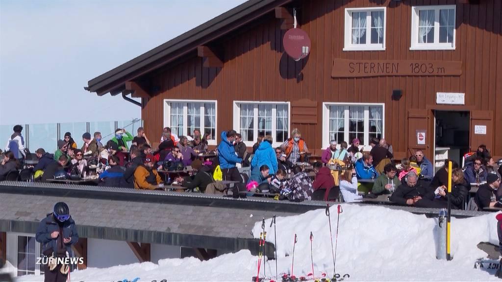 Terrassen-Schliessung: Enttäuschte Skifahrer in Innerschweiz