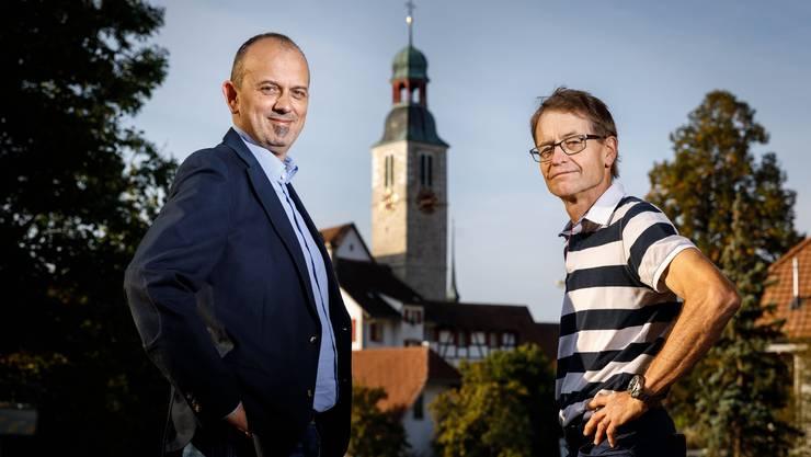 Marc Spirig und Ueli Kölliker bewerben sich für das Amt zum Gemeindepräsident.