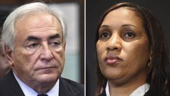 Dominique Strauss-Kahn und das Zimmermädchen Nafissatou Diallo (Archiv)