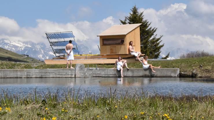 Die Solarsauna der Firma Lytefire im Büdner Prättigau.