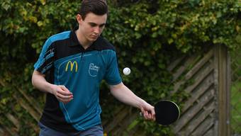 Spielt Tischtennis bald nur noch hobbymässig: Dimitri Brunner war zwei Jahre Profisportler, jetzt will er eine KV-Lehre beginnen. Willi Steffen
