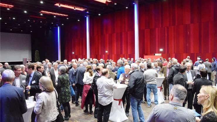 Bereits zum zweiten Mal führten die Stadt Brugg und die Gemeinde Windisch Anfang Januar den Neujahrsempfang für Unternehmer im Campussaal durch.MHU/Archiv az