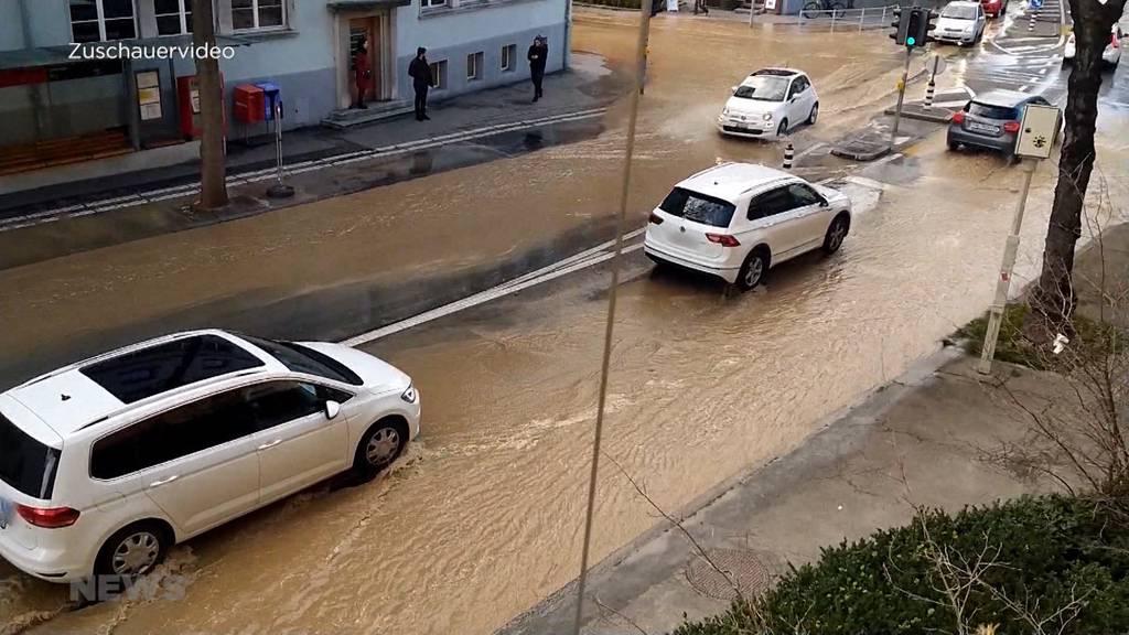 Überschwemmung in der Länggasse
