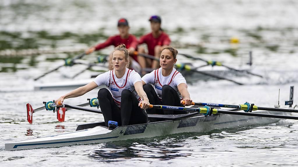 Frédérique Rol (links) und Patricia Merz überzeugten an der Olympia-Qualifikationsregatta.