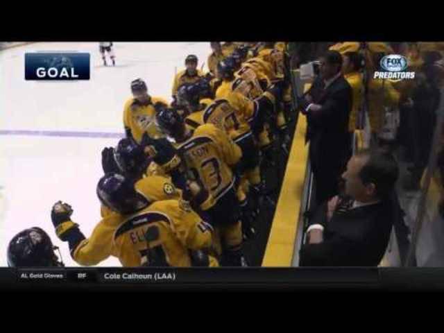 Roman Josi trifft wunderschön in der NHL.