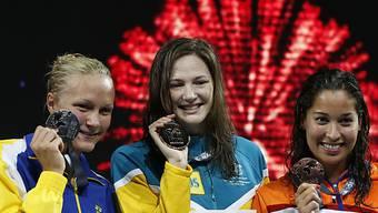 Weltmeisterin Cate Campbell, Sarah Sjöström und Ranomi Kromowidjojo
