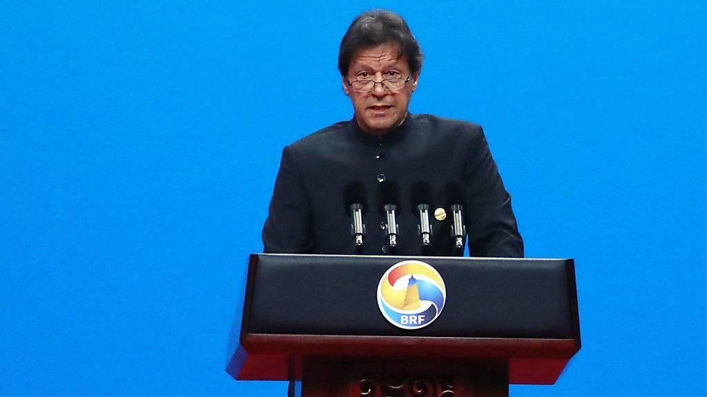 Pakistans Premierminister Imran Khan verurteilte die Attacke auf ein Luxushotel in der südpakistanischen Stadt Gwadar als Sabotageakt. (Archivbild)