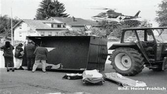 1997 verletzten sich in Holziken 17 Schüler bei einem Anhänger-Unfall. Archiv AT