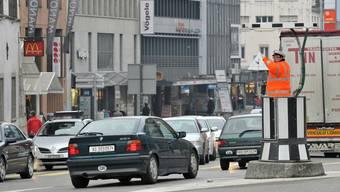 Ab Mai steht auf dem Aargauerplatz statt der Kanzel ein Kreisel.  asp