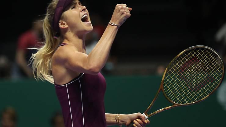Jelina Switolina steht an den WTA Finals vor dem Einzug in die Halbfinals