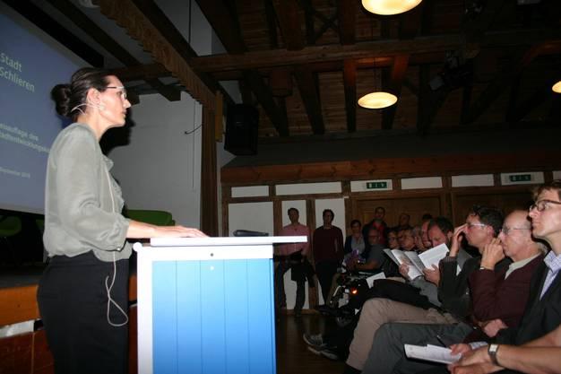 Stadtplanerin Barbara Meyer präsentierte das Stadtentwicklungskonzept