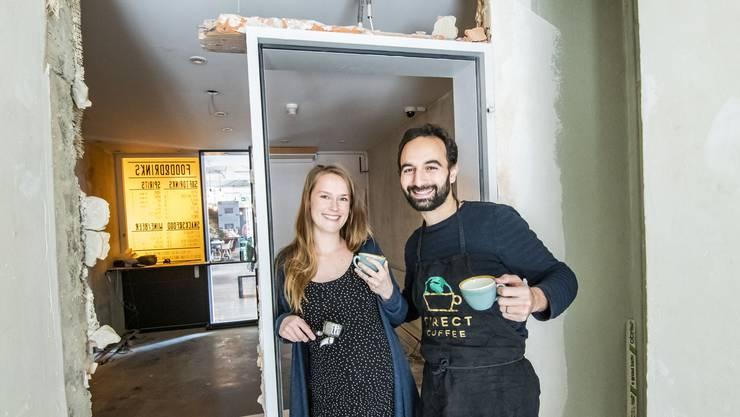 Noch ist das Café eine Baustelle: Doch schon ab Mai wollen Marie und Michaël Tuil hier ihren nachhaltigen Kaffee verkaufen.