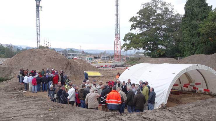 Das Ausgrabungsgelände an der Baslerstrasse in Laufenburg