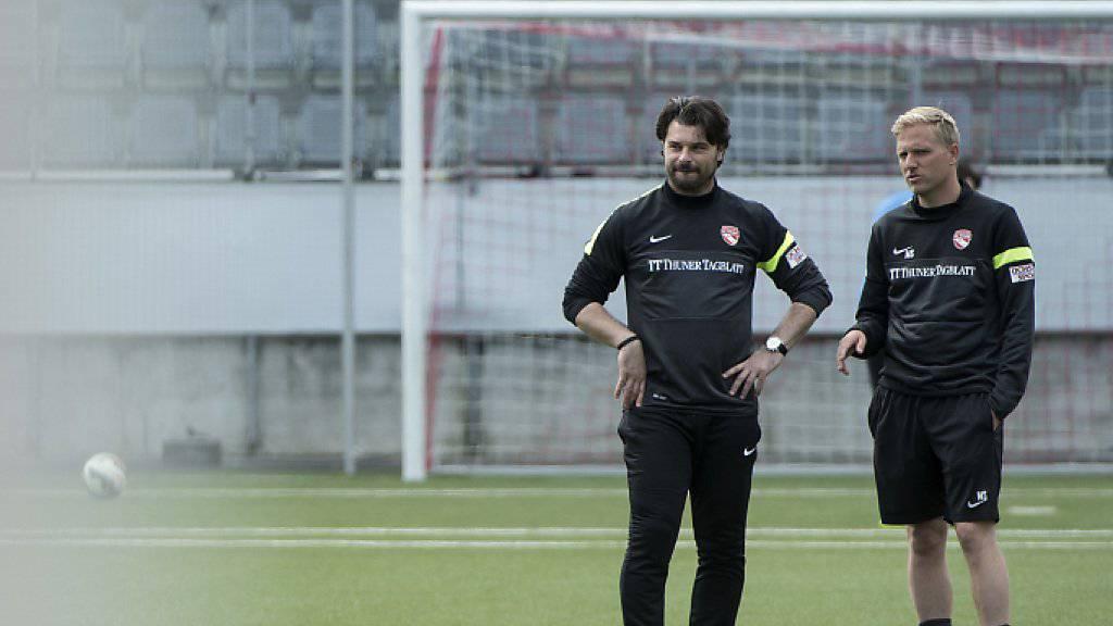 Marc Schneider (rechts) übernimmt interimistisch den Trainerjob von Ciriaco Sforza (links) beim FC Thun
