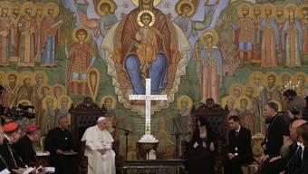 Papst Franziskus und der orthodoxe Patriarch Ilia II. von Georgien in Tiflis.