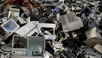 Elektroschrott in der Recycling-Firma Immark in Regensdorf (Archiv)