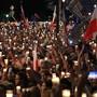 Die umstrittene Justizreform hatte in Polen Massendemonstrationen ausgelöst. (Archivbild)