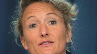 Regierungsrätin Susanne Hochuli holte sich mit ihrer Rede viel Applaus an der Jubiläumsversammlung der Grünen Aargau.