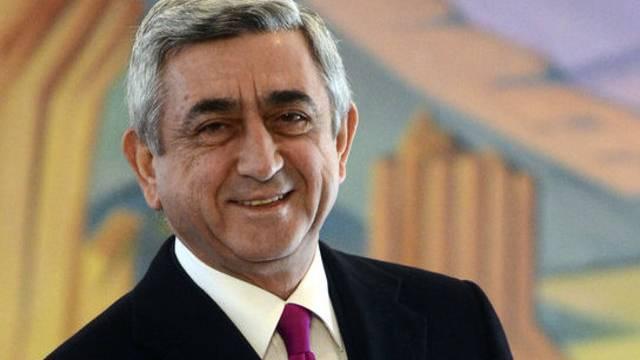 Der armenische Präsident Sersch Sargsjan (Archiv) ist im Amt bestätigt worden