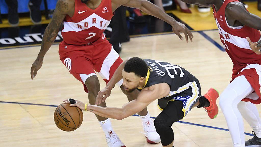 Stephen Curry gerät im entscheidenden Finalspiel gegen Toronto aus dem Tritt