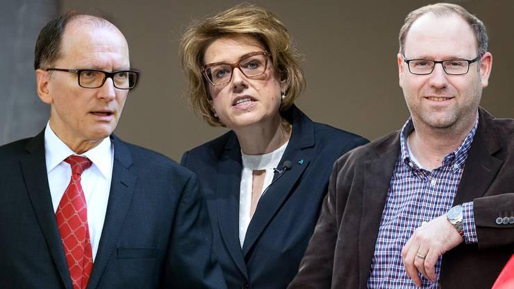 Ulrich Weder, Désirée Stutz, Simon Burger (v.l.)