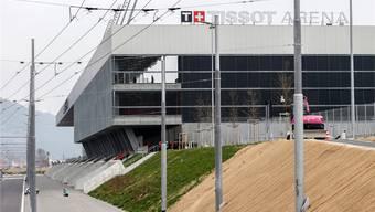 Schönes Stadion, unterklassiger Fussball: Die «Tissot Arena» ist seit der Pleite des FC Biel (Sommer 2016) schlecht genutzt.