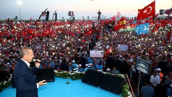 Grosskundgebung Erdogans in Istanbul