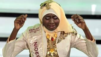 Die Nigerianerin Obabiyi Aishah Ajibola freut sich über ihren Sieg
