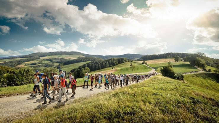 Was für Wanderwetter! Fotograf Michel Jaussi freute sich genauso sehr wie die 117 Leserwanderer über die perfekten Bedingungen im Schenkenbergertal.