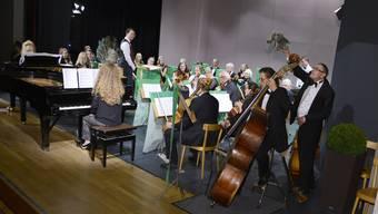 Das Stadtorchester beim samstäglichen Konzert für Kinder im Parktheater.