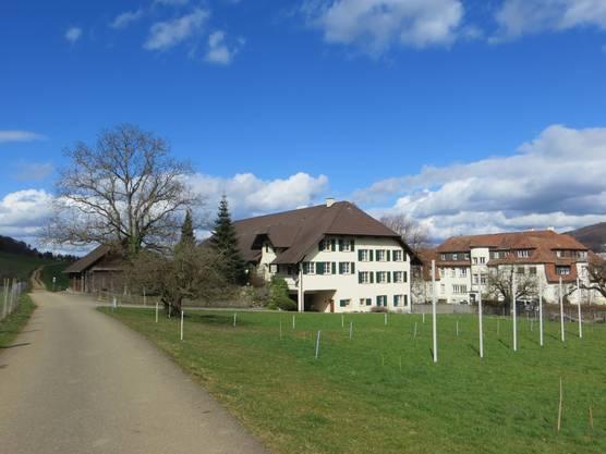 Hier der Schillingsrain auf den Boden von der Stadt Liestal
