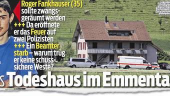So berichtete «Blick» diese Woche über das Drama in Schafhausen BE