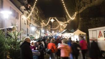 Der Christchindlimärt 2016 in Bremgarten in der Altstadt