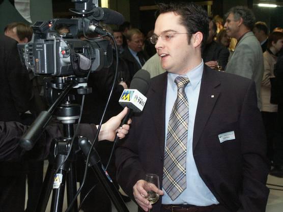 2003: Roger Huber an der Landammannfeier von Peter C. Beyeler.