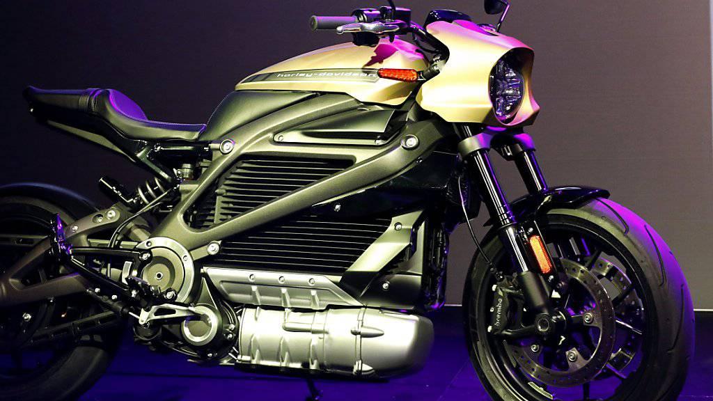 Elektro-Motorräder wie das Harley Davidson-Modell LiveWire sieht man auf Schweizer Strassen noch kaum. (Archivbild)