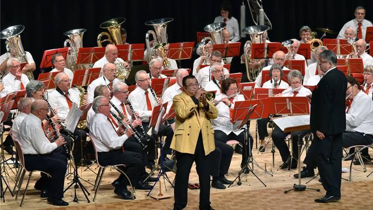 Das Solothurner Veteranenspiel mit Star-Trompeter Walter Scholz begeisterte.