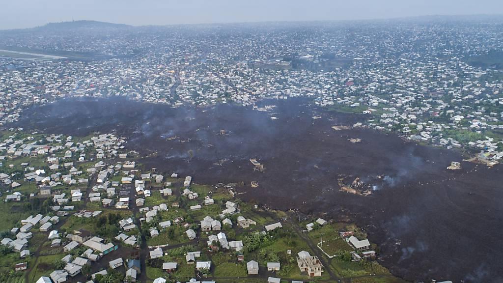 Vulkanausbruch befürchtet: Teil-Evakuierung der Millionenstadt Goma