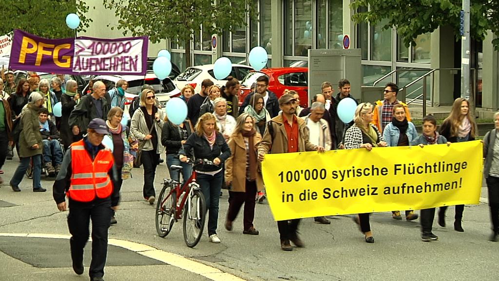 Kundgebung in St.Gallen.
