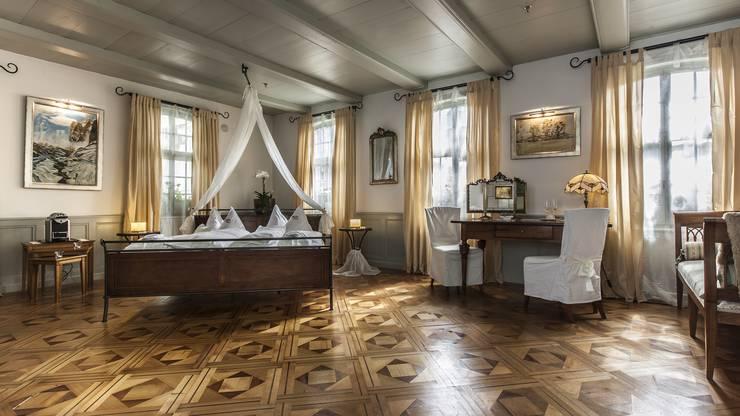 Die Romantik-Suite verspricht eine angenehme Nacht zu zweit. Alle Infos finden Sie unter www.baeren-duerrenroth.ch.