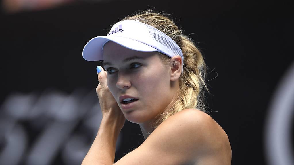 Caroline Wozniacki bestritt ihr letztes Spiel der Karriere in Melbourne.