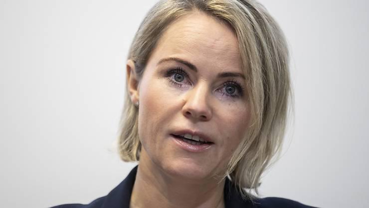 Gesundheitsdirektorin Natalie Rickli (SVP) am Freitag vor den Medien.