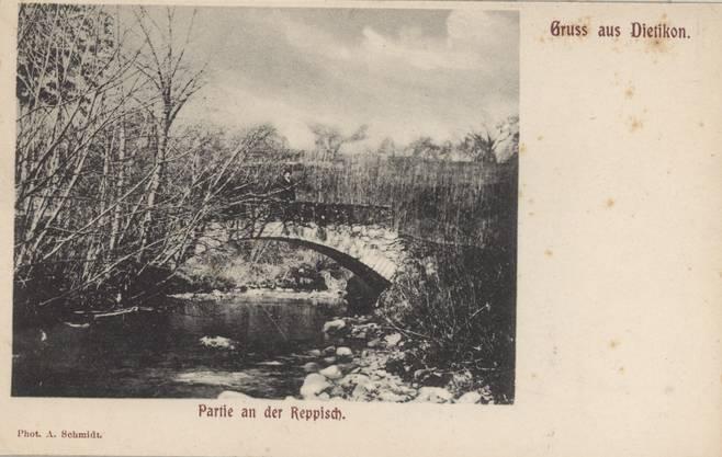 Brücke über die Reppisch: Postkarte aus Dietikon