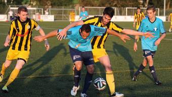 Gränichen mit Ahmetaj (M.) musste sich mit einem Unentschieden begnügen.