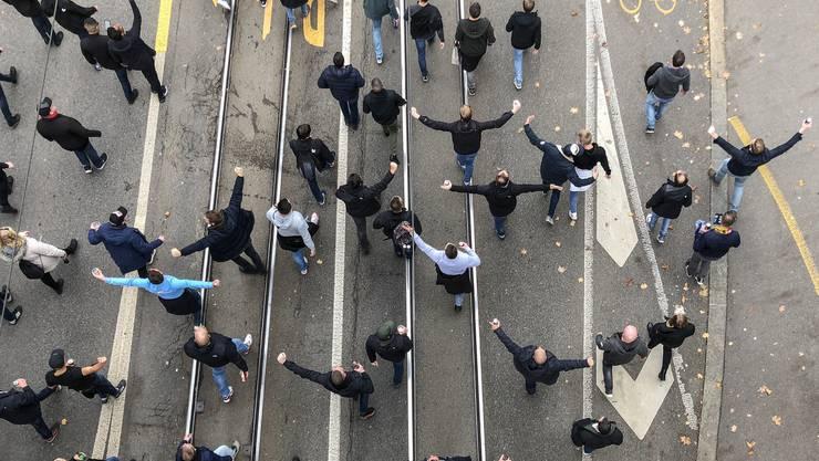Feyenoord-Fans marschierten am 24. Oktober durch die Stadt Bern