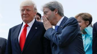 US-Präsident Trump hat kein Gehör für Europas Sorgen. Das stellte auch Italiens Premier Paolo Gentiloni fest.