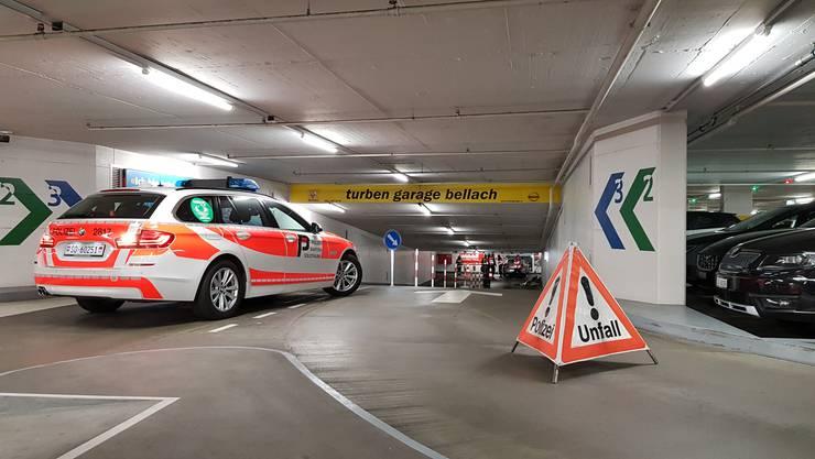 Unfall im Bieltor-Parkhaus in Solothurn