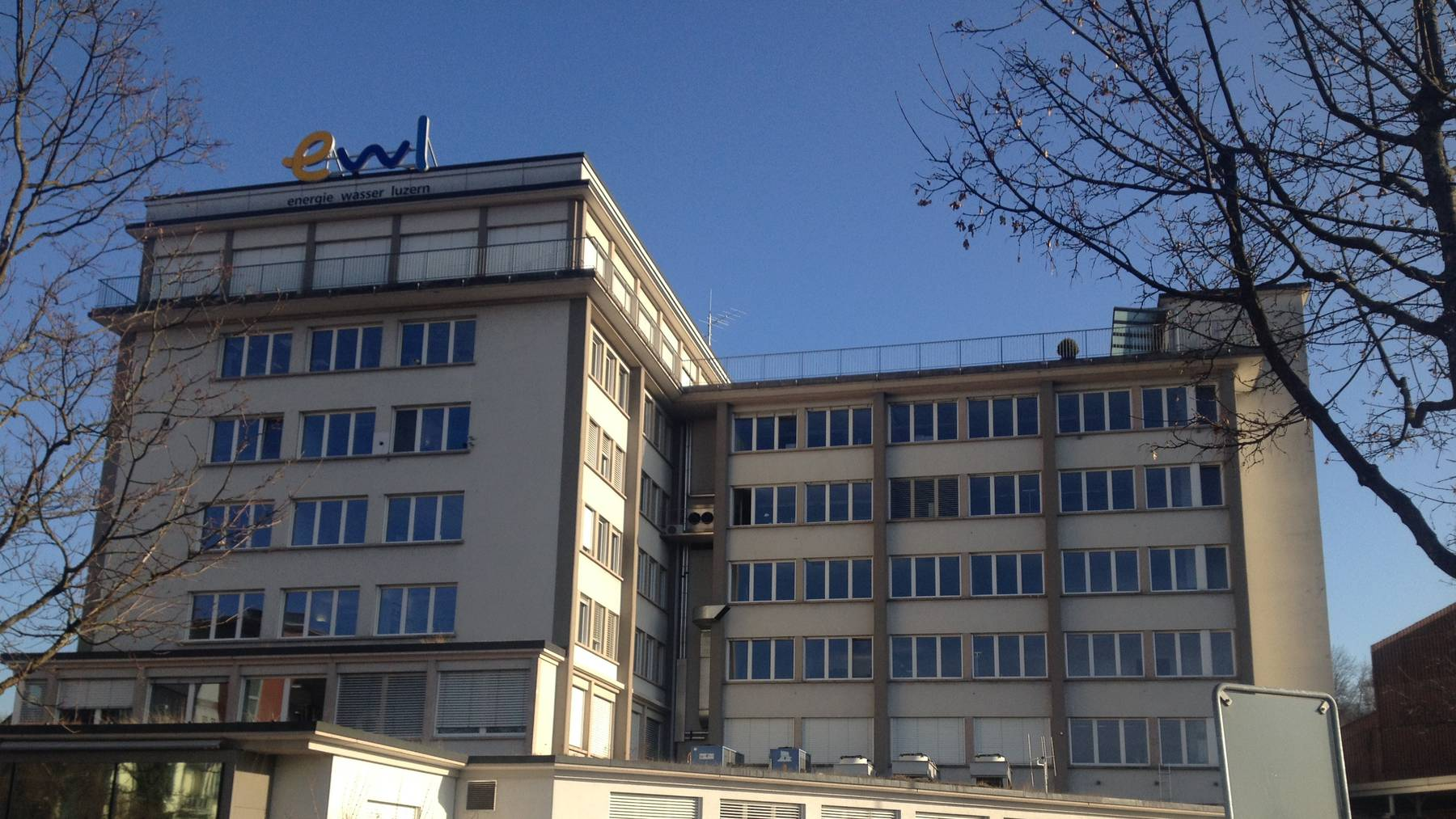 Das ewl-Areal an der Industriestrasse in Luzern.